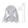 Мягкая игрушка Effiki Кролик серый серые уши 50см